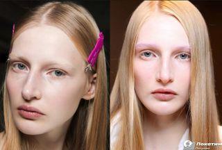 Обесцвеченные брови светлее оттенка волос Фото: автор «Покатим» Марина Аберлинская
