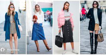 «Всесезонная» юбка. Джинсовые модели на примере Хадид, Шиффер и Канделаки