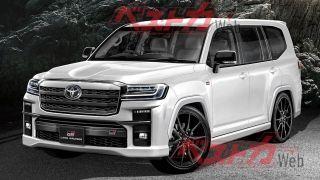 «Заряженный» Toyota Land Cruiser 300 GRSport. Рендер: BestCarWeb