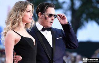Актер с супругой Эмбер Херд. Источник: tass.ru