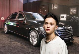 Даня Милохин нафоне первого автомобиля. Изображение: Pokatim.ru