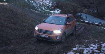 «Hyundai Creta угорает над внедорожниками»: Офф-роуд «уничтожение» «Нивы» иУАЗа заснял блогер