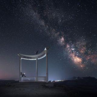 Смотровая площадка ночью