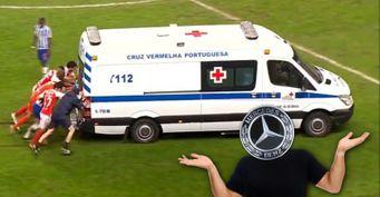 Нескорая немецкая помощь: Медицинский Mercedes Sprinter футболисты с«толкача» удалили споля