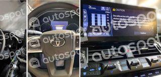 Шпионские снимки интерьера Toyota Land Cruiser 300. Источник: Autospot