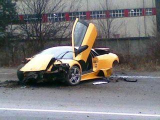 На ТТК в Москве в ДТП попала «Lamborghini» стоимостью 12 млн рублей