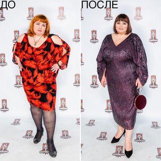 Пестрое платье подчеркнули недостатки фигуры Оксаны. Источник - www.modniy.tv