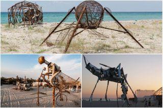 Яркими идеями Поповка неуступает американскому фестивалю BurningMan. Фото: Instagram