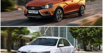 LADA Vesta SW Cross против нового Skoda Rapid: Сравнение высокого «вагона» и вместительного «чеха»