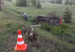Машина съехала в кювет с проезжей части в Рыбинском районе