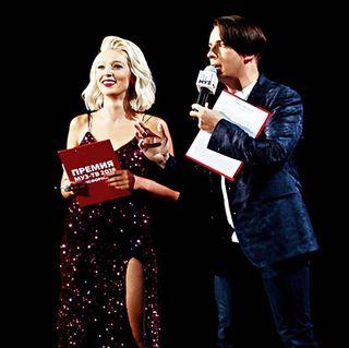 Ивлеева ведёт премию «МУЗ-ТВ». Фото: Hair.su