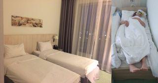 Даже размер кроватей порой не соответствует росту посетителей. Кадры: Irecommend.ru и Instagram