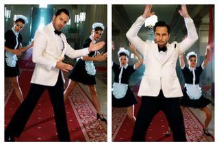 Фрагменты танца Реввы, скопированные изпрошлогоднего клипа Бузовой