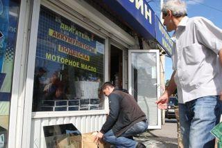 В Калининграде на 10-летнюю девочку упала витрина магазина