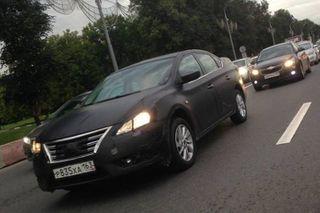 Русский Nissan Sentra был запечатлен шпионами