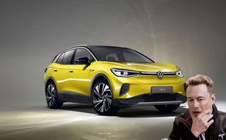 Новый кроссовер Volkswagen заставит Илона Маска напрячься. Коллаж: портал «Покатим»