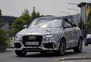 Обновленный кроссовер Audi RS Q3 опять появился на шпионских фото