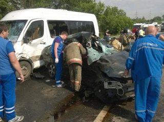 В подмосковных Горках в ДТП с участием маршрутки погиб человек