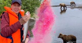 Медведь в пяти метрах: Евгений Миронов порыбачил с экстримом на Камчатке