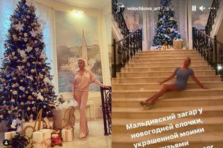 Волочкова позирует возле своей шикарной ёлкиФото: instagram.com/volochkova_art