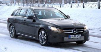 Опубликованы шпионские снимки салона обновленного Mercedes-Benz C-Class Estate