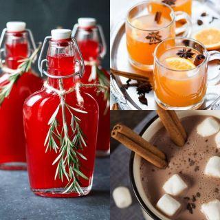 Варианты подачи глинтвейна, какао инастойки. Источник: Pinterest