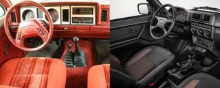 Интерьер Ford Bronco и LADA 4x4, источники: Ford, LADA