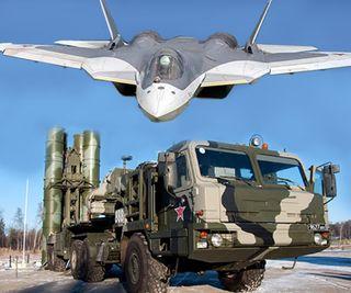 ЗРК С-500 и истребитель СУ-57