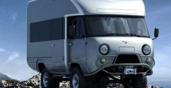Автодом, проходимец и«глиномес»: «Семьянин» набазе УАЗ «Буханка» показан напервом рендере