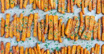 Тыква фри с сыром и пряностями – достойная замена жареной картошки