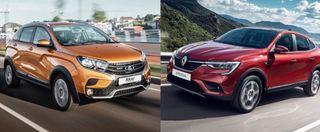 Фото: слева— LADA XRay Cross, справа— Renault Arkana, источник: «АвтоВАЗ», Renault
