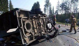 30 белорусских военнослужащих пострадали в ДТП