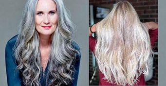 Окрашивания для седых волос, которые сделают лицо «моложе»