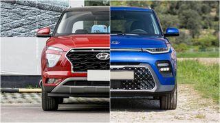 Фото: Слева Hyundai Creta 2021, справа KIA Soul 2020, источник: Hyundai иKIA