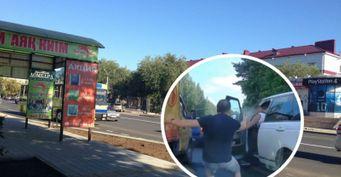 В Казахстане автомобилисты устроили разборки: Перцовый баллончик против «травмата»