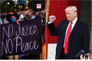Когда кто-то не хочет мира и правопорядка, нужен кулак. Источники фото: eadaily.com, interfax.ru