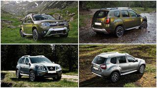 Фото: Сравнение экстерьеров— вверху Renault Duster, внизу Nissan Terrano, источник: CarsDo.ru