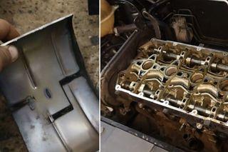 Механик ввосторге оттолщины металла наколлекторе ичистоты «вазовского» мотора 1.6. Кадры: Youtube-канал KPOWERtuning