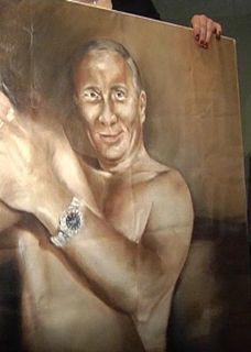 Киевская художница, написавшая обнаженного Януковича, представила голого Путина