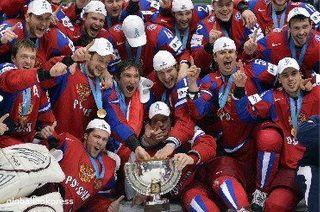 В аэропорт «Внуково» прибыла чемпионская сборная России по хоккею