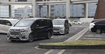 Рестайлинговый минивэн Honda StepWGN сфотографировали в Японии