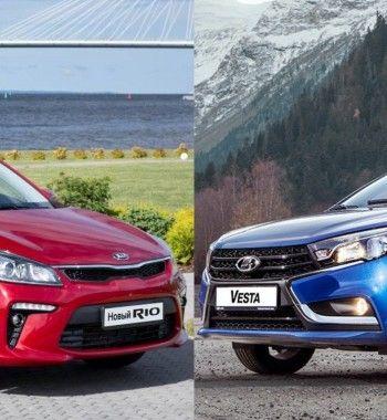 LADA Vesta против KIA Rio: Плюсы и минусы автомобилей в комплектации Comfort