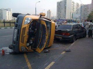 В ДТП с участием маршрутного такси на юго-востоке Москвы пострадали девять человек