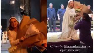 Навари Бакиров не устает радовать Кристину Асмус. Коллаж автора «Покатим»