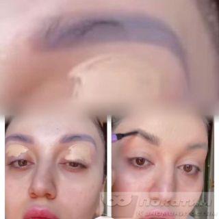 Так выглядят брови Гоар после перманентного макияжа. Источник: pokatim.ru