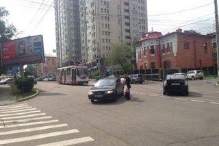 В Хабаровске из-за мелкого ДТП стали трамваи
