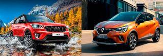 Фото, слева направо: Hyundai Creta Би*2 иRenault Kaptur, источники: Hyundai, Renault