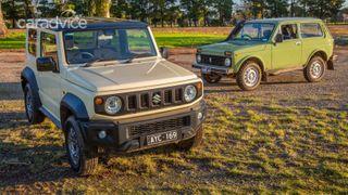 Фото: Слева— Suzuki Jimny, справа— LADA 4×4, источник: портал CarAdvice