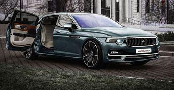 Внедорожник соступенькой и«убийца» Rolls-Royce: Новые ГАЗ для 2024 года представил дизайнер