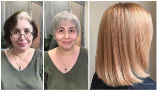 Фото: Автор «Покатим». Теплые окрашивания для седых волос - удачные примеры преображения.